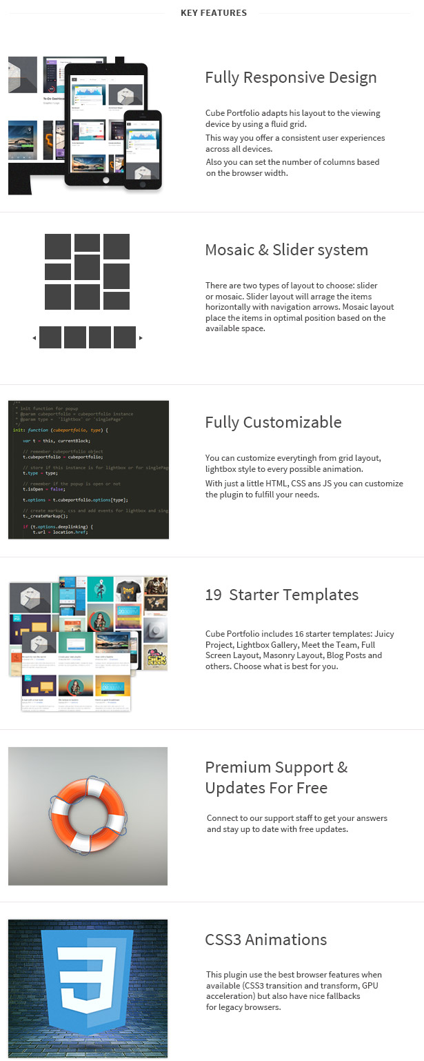 Plugin free download: Download Cube Portfolio - Responsive jQuery